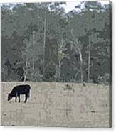 Impressionist Cows Grazing Canvas Print