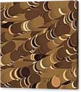 Impressionist Golden Rising Sand Castle Show Pattern Art 36x12 Horizontal Landscape Energy Graphics  Canvas Print