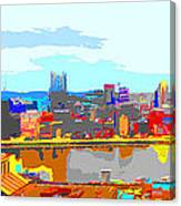 Impressionist Pittsburgh Across The River 2 Canvas Print