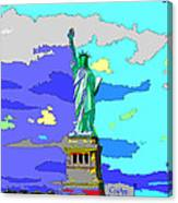 Impressionist Statue Of Liberty Canvas Print