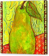 Impressionist Style Pear Canvas Print