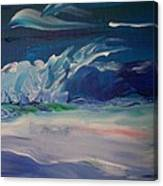 Impressionistic Abstract Wave Canvas Print