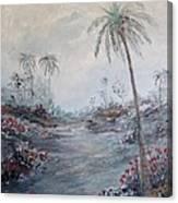 Impressionistic Palms Canvas Print