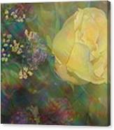 Impressionistic Yellow Rose Canvas Print