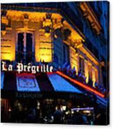 Impressions Of Paris - Latin Quarter Night Life Canvas Print