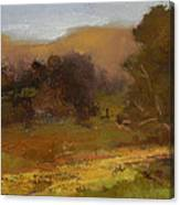 Impressions Of Portola Pastures Canvas Print