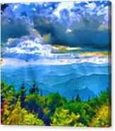 Impressions Of Waterrock Knob On The Blue Ridge Parkway Canvas Print