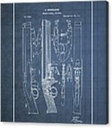 Improvement To Muzzle-loading Fire-arm - Vintage Patent Blueprint Canvas Print