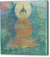 In A Fog Buddha Canvas Print