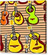 In A Music Shop Canvas Print