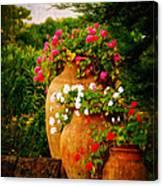 In A Portuguese Garden - Digital Oil Canvas Print