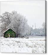 In A Sea Of White Canvas Print