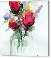 In A Vase Canvas Print