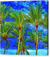 In A World Of Palms Canvas Print