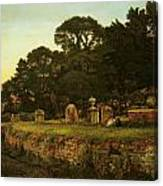 In Country Churchyard Wittington Worcester Canvas Print