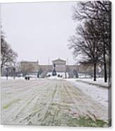 In Front Of The Philadelphia Art Museum Canvas Print