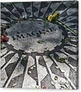 In Memory Of John Lennon - Imagine Canvas Print