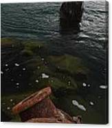 In Our Rusty Submarine Canvas Print