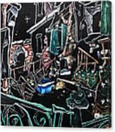In Sospensione - Wallpaper Venice Italy - Venedig Kunstausstellung Canvas Print