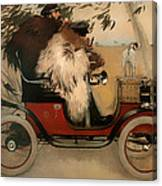 In The Automobile Canvas Print