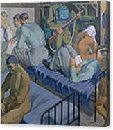 In The Barracks, 1989 Canvas Print