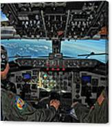 In The Cockpit Of A Kc-135 Stratotanker  Canvas Print