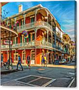In The French Quarter - Paint Canvas Print