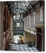 In The Hallway - Peabody Library Canvas Print
