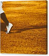 In The Infield Canvas Print