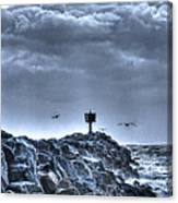 In The Jetty Moss Landing Monterey County  Canvas Print
