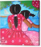 in the park by the sea by Elaine Jackson Canvas Print