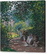 In The Park Monceau Canvas Print