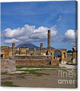 In The Shadow Of The Volcano Canvas Print