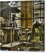 In The Ship-lift Engine Room Canvas Print