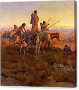 In The Wake Of The Buffalo Hunters Canvas Print