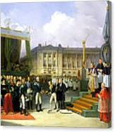 Inauguration Of A Monument In Memory Of Louis Xvi 1754-93 By Charles X 1757-1836 At The Place De La Canvas Print