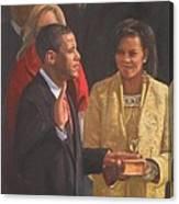 Inauguration Of Barack Obama Canvas Print