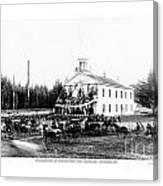 Inauguration Of Washington States First Governor 1889 Canvas Print