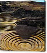 Inca Crop Circles At Moray Canvas Print