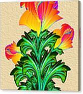 Incendia Flowers #5 Canvas Print