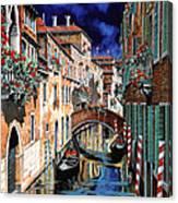 Inchiostro Su Venezia Canvas Print