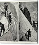 Incidents Of Climbing In The High Alps, 1889 On The Alsirat Canvas Print