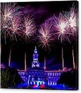 Independence Eve In Denver Colorado Canvas Print