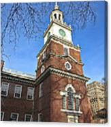 Independence Hall Bell Tower Canvas Print