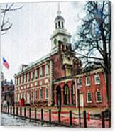 Independence Hall From Chestnut Street Canvas Print