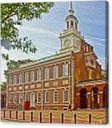 Independence Hall Philadelphia  Canvas Print