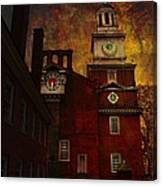 Independence Hall Philadelphia Let Freedom Ring Canvas Print