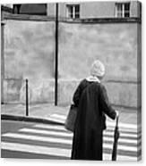 Independence - Street Crosswalk - Woman Canvas Print