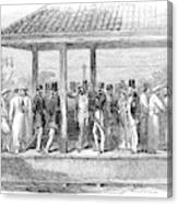 India Train Station, 1854 Canvas Print
