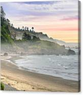 Indian Beach One Foggy Morning Canvas Print